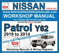 Nissan Patrol 2010 to 2014 workshop repair manual download