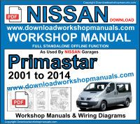 Nissan Primastar service repair workshop manual download