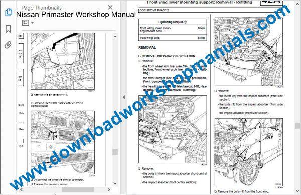 Nissan Primaster Workshop Repair Manual