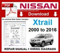 Nissan Xtrail Workshop Repair Manual