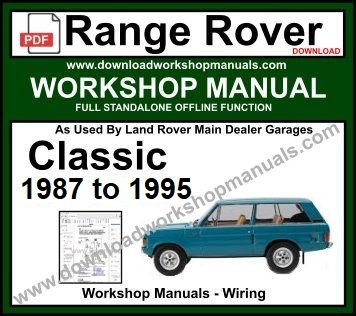 Range Rover Classic workshop service repair manual