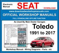 Seat Toledo Service Repair Workshop Manual Download