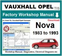 vauxhall nova Workshop Manual Download
