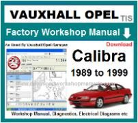 vauxhall calibra Workshop Manual Download