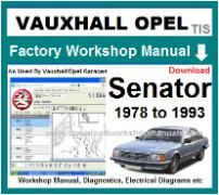 vauxhall senator Workshop Manual Download
