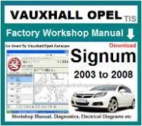 vauxhall signum Workshop Manual Download