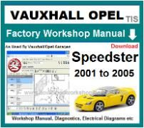 vauxhall speedster Workshop Manual Download