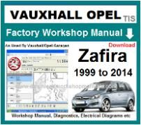 vauxhall zafira Workshop Manual Download