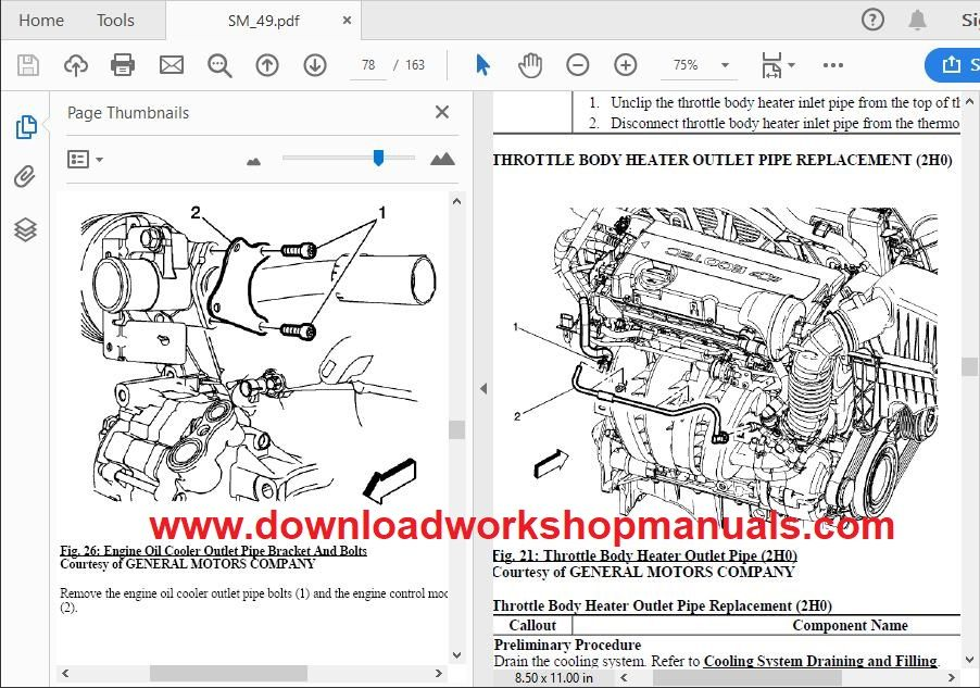Vauxhall Mokka Workshop Repair Manual