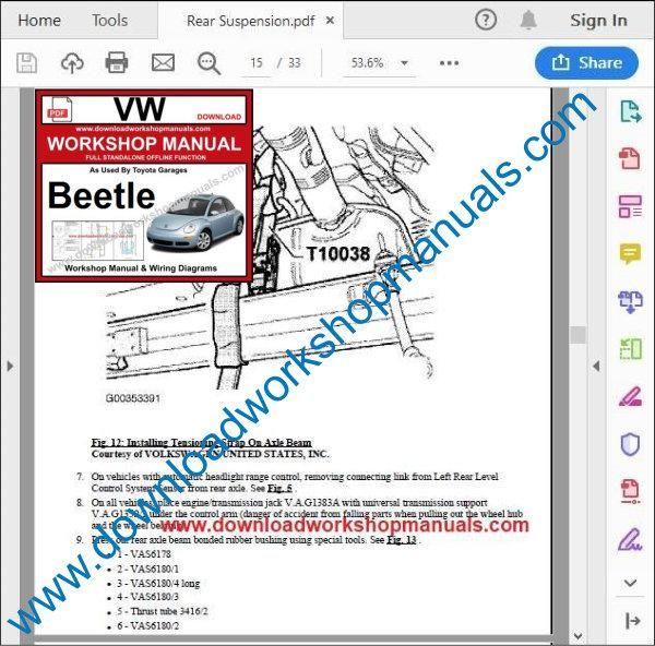 Volkswagen Beetle Pdf Service Repair Manual
