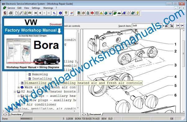 Vw Bora Workshop Manual
