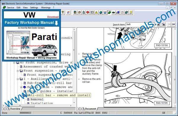 Vw Parati Workshop Manual