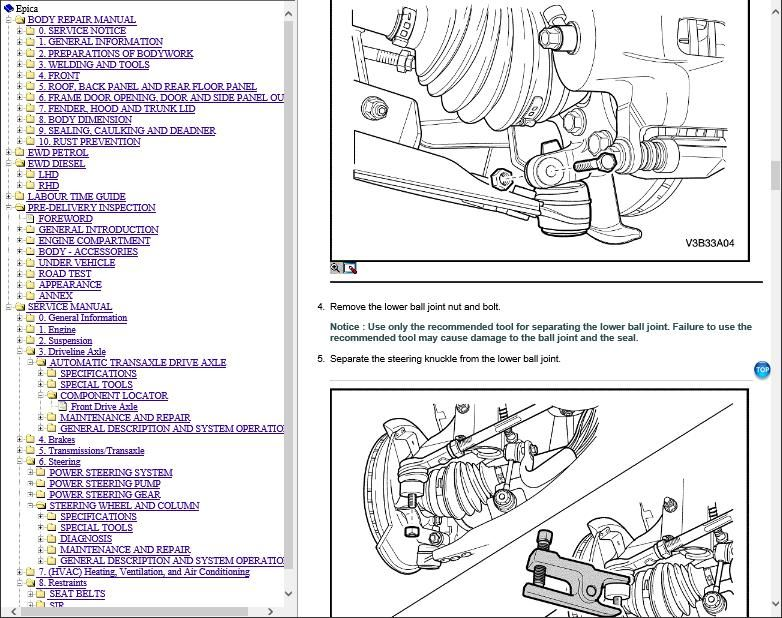 Holden Epica Workshop Repair Manual Download