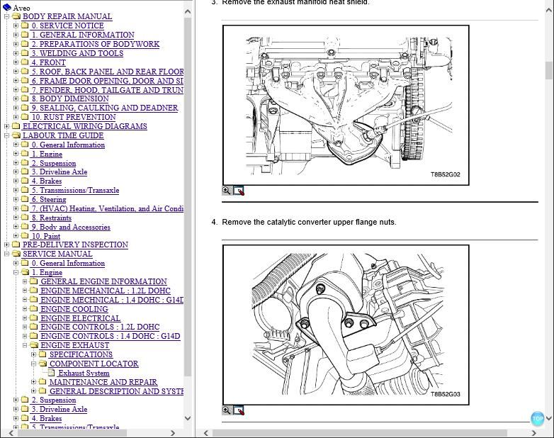 Daewoo Kalos Workshop Repair Manual and Wiring Diagrams Download