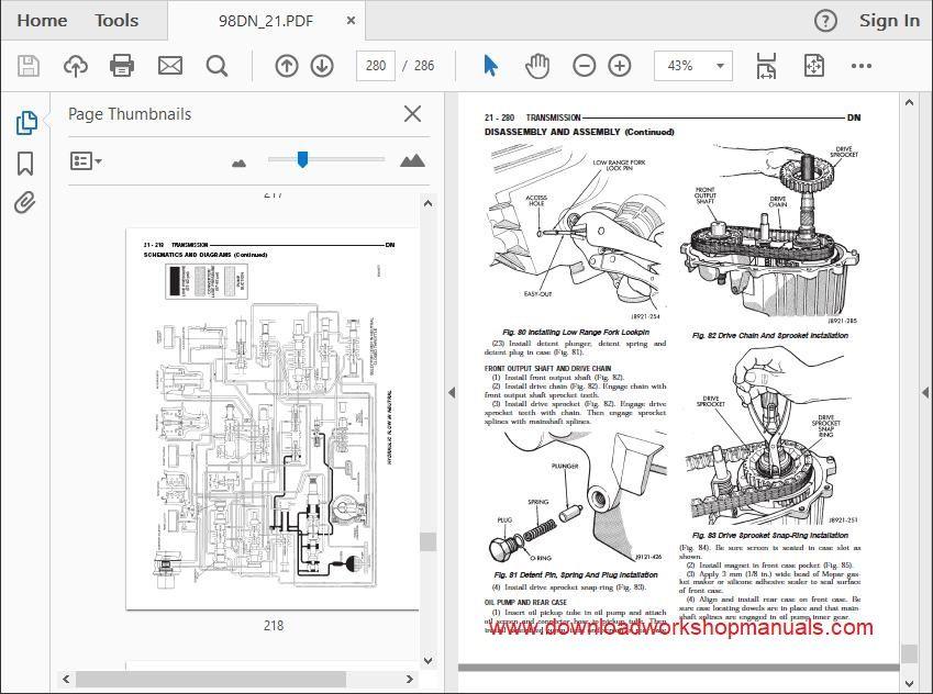 Dodge Durango Workshop Repair Manual Download