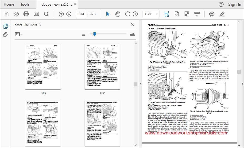 Dodge Neon Workshop Repair Manual Download
