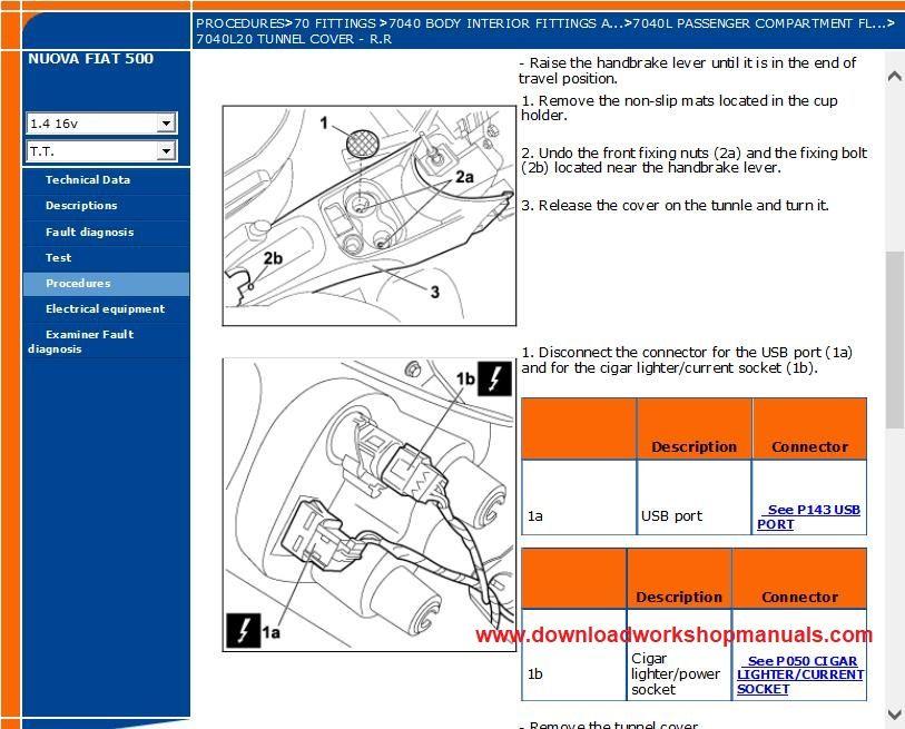 Fiat 500 Workshop Repair Manual