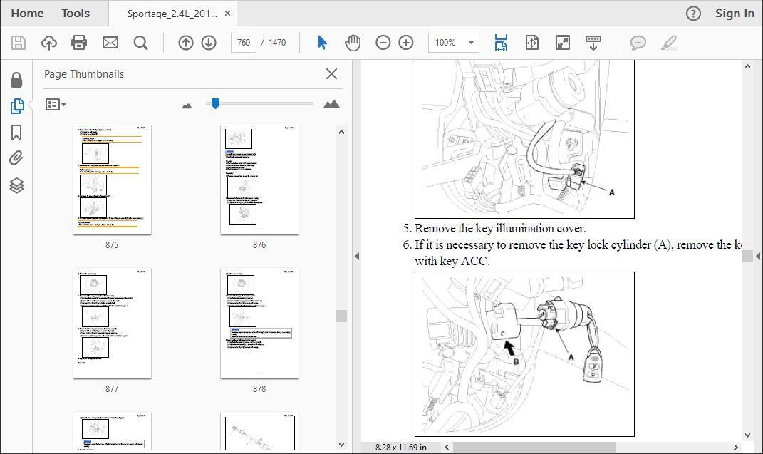 Kia Sportage 2010 To 2015 Workshop Repair Manual