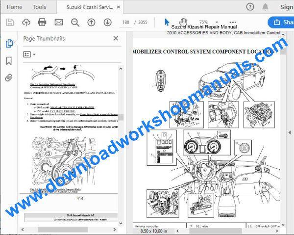 Suzuki Kizashi Workshop Repair Manual Download
