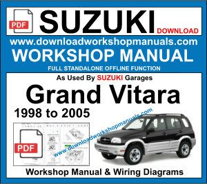 suzuki grand Vitara Workshop Service Repair Manual 1998 to 2005